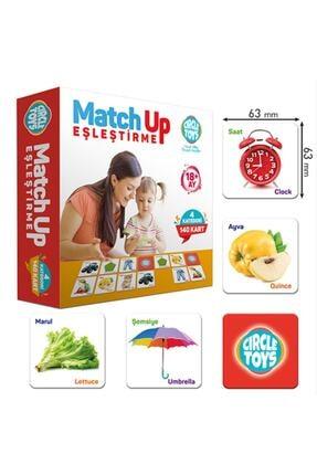 AyasEğiticiOyuncak Circle Toys Match Up Eşleştirme Kartları , Geometrik Şekilli Yumurta Bultak 3