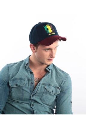 Erkek Lacivert Baskılı Şapka Ş8318