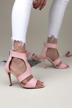 Pudra Ince Topuklu Kadın Topuklu Ayakkabı 1silva