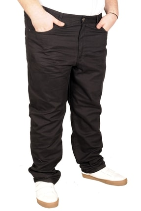 Picture of Büyük Beden Erkek Keten Pantolon 5 Cep 21003 Siyah