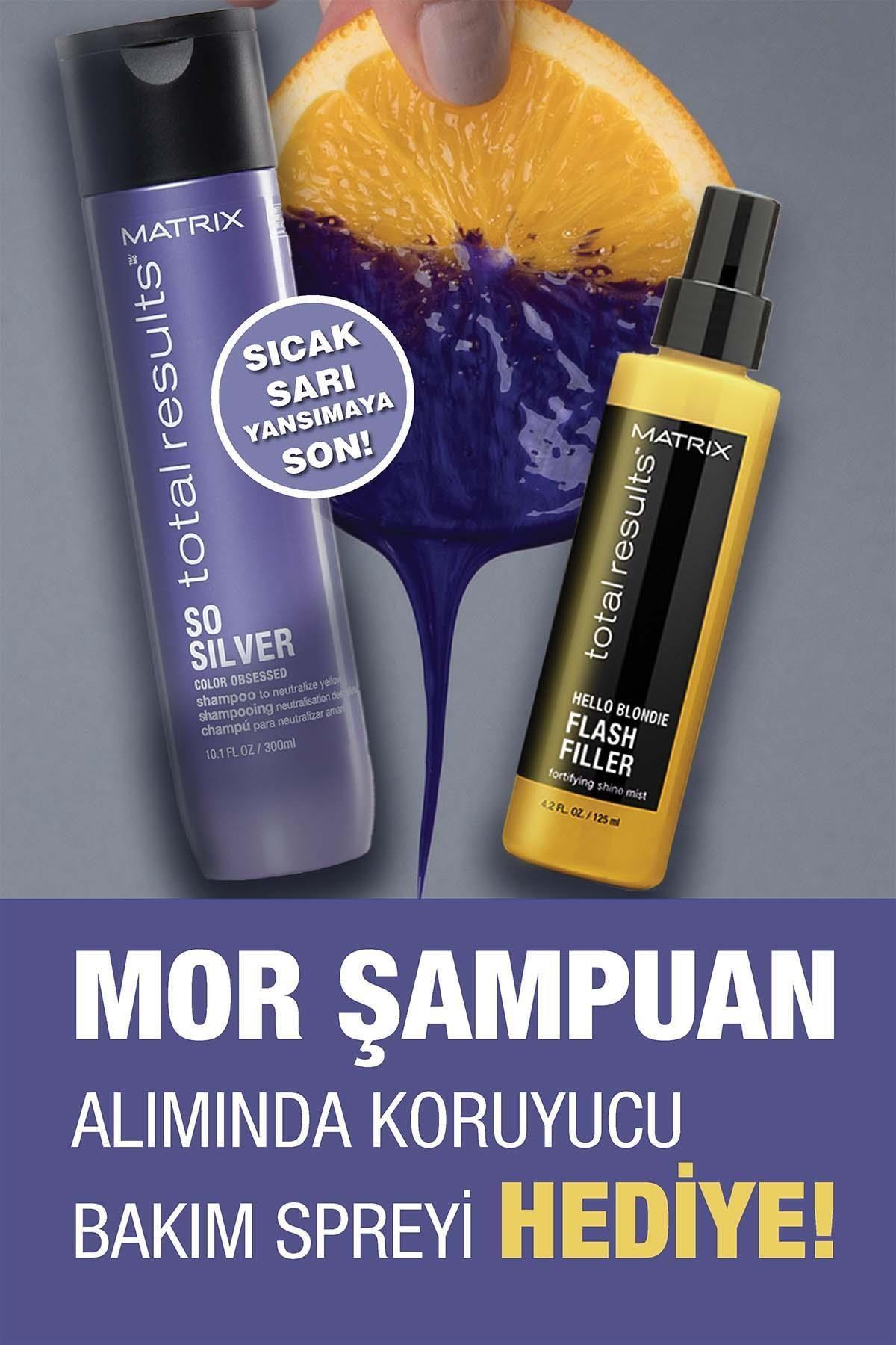 Matrix So Silver Mor Şampuan 300ml + Flash Filler Bakım Spreyi 125ml Bakım Seti 1