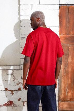Densmood Yazılı Pamuklu Oversize Kesim T-shirt 3