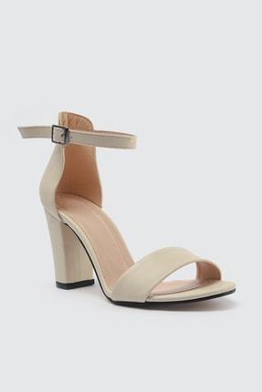 TRENDYOLMİLLA Ten Tek Bantlı Kadın Klasik Topuklu Ayakkabı TAKSS21TO0019 2