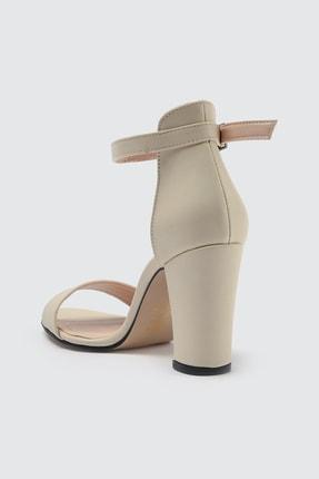 TRENDYOLMİLLA Ten Tek Bantlı Kadın Klasik Topuklu Ayakkabı TAKSS21TO0019 3