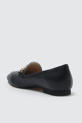 TRENDYOLMİLLA Siyah Altın Tokalı Kadın Klasik Ayakkabı TAKSS21KA0001 3