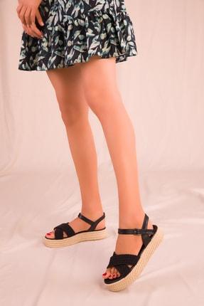 Soho Exclusive Siyah Kadın Sandalet 14952 1