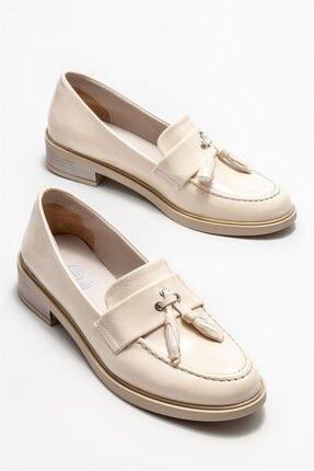 Elle Kadın Bej Loafer Ayakkabı 1