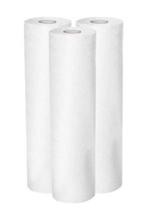KARAHANÇER Sedye Örtüsü Laminasyonlu Rulo Sedye Örtüsü Sıvı Geçirmez 50cmx50 Mt 1 Rulo Kağıt Sedye Örtüsü 0