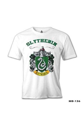 Lord T-Shirt Erkek Beyaz Harry Potter - Slytherin Tshirt mb-136 1