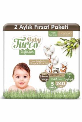 Baby Turco Doğadan 5 Numara Junıor 240 Adet 0