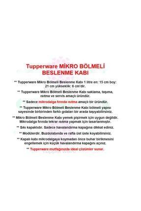 Tupperware Mikrodalga Bölmeli Beslenme Fırın Kabı 1lt 2