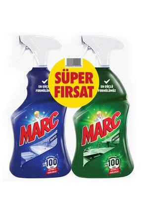 Marc Banyo ve Mutfak Temizleyici Yağ Çözücü ve Kireç Sökücü 2'li Sprey Set 1