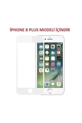 Telefon Aksesuarları iPhone 8 Plus Kavisli Tam Kaplayan 9D Ekran Koruyucu Film 1