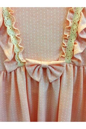 Cherrys Bebek Kız Çocuk Somon Küçük Puanlı  Elbise 1