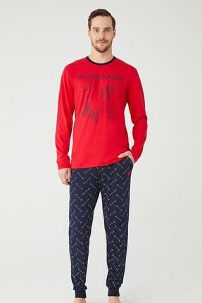 US Polo Assn U.s. Polo Assn. Erkek Yuvarlak Yaka Pijama Takımı 18333 0