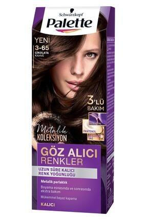 Palette Göz Alıcı Renkler Çikolata Kahve 3-65 Saç Boyası 1