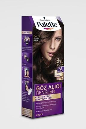 Palette Göz Alıcı Renkler Çikolata Kahve 3-65 Saç Boyası 2