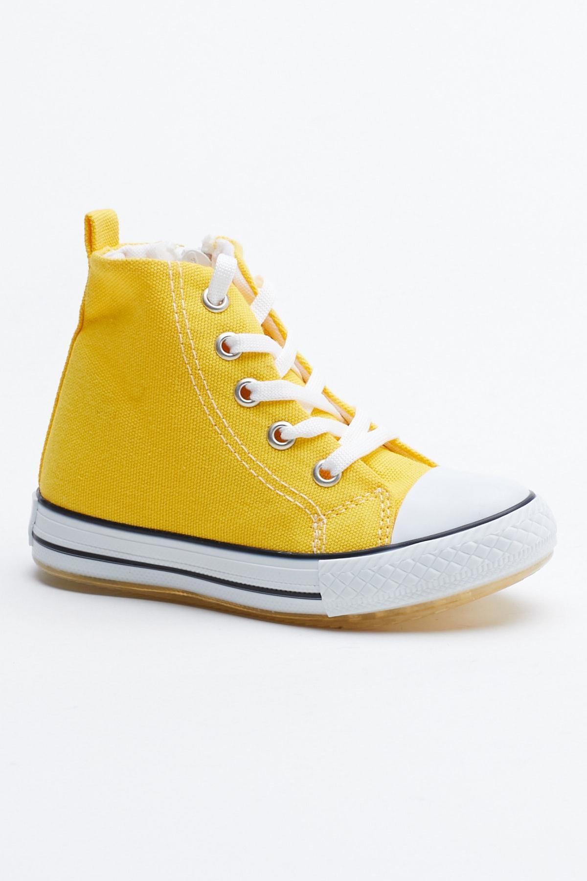 Tonny Black Sarı Çocuk Spor Ayakkabı Uzun Tb999 0