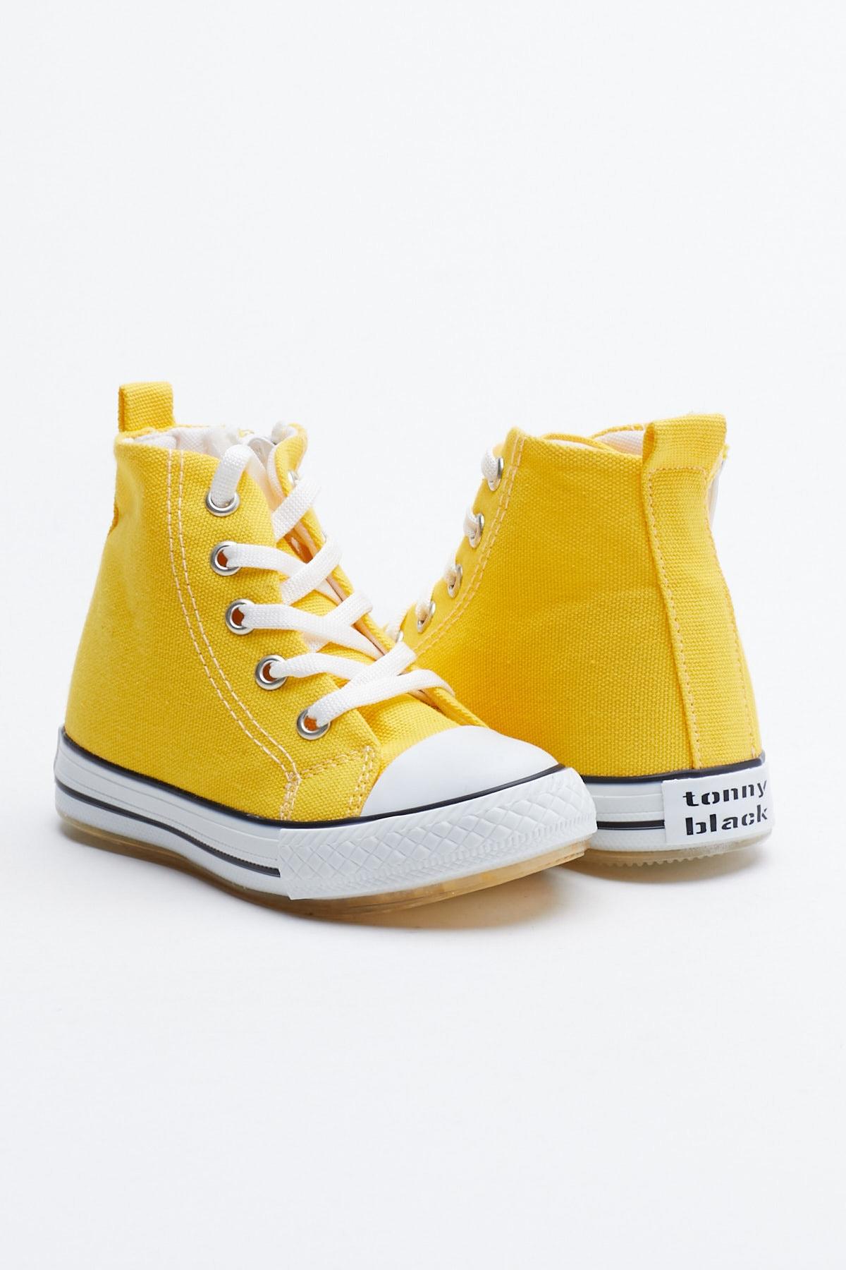 Tonny Black Sarı Çocuk Spor Ayakkabı Uzun Tb999 1