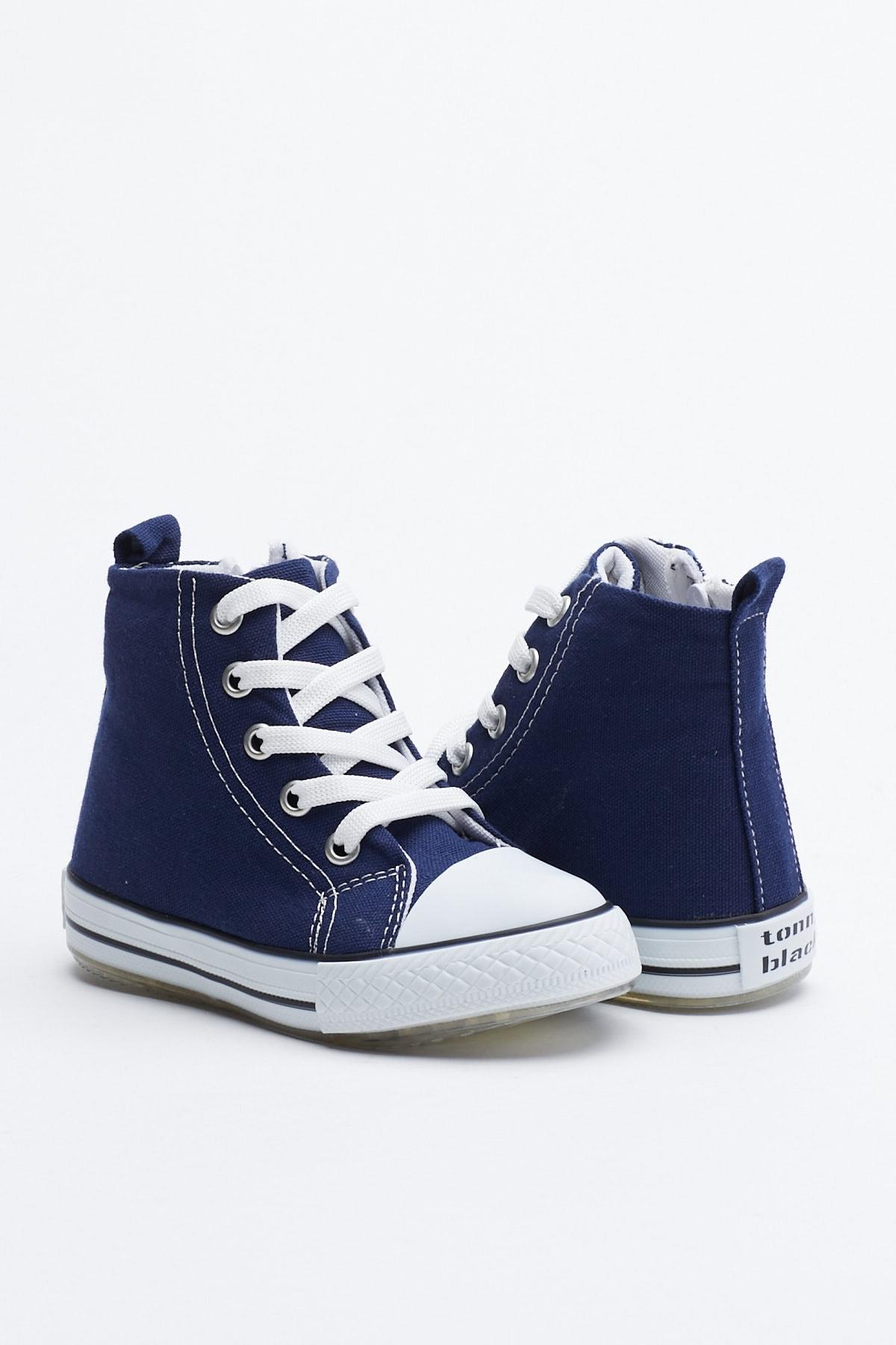 Tonny Black Lacivert Çocuk Spor Ayakkabı Uzun Tb999 1