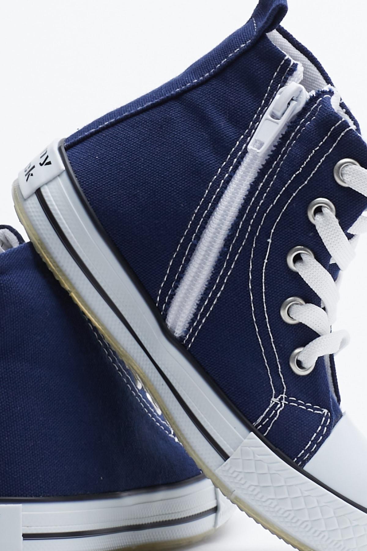 Tonny Black Lacivert Çocuk Spor Ayakkabı Uzun Tb999 2