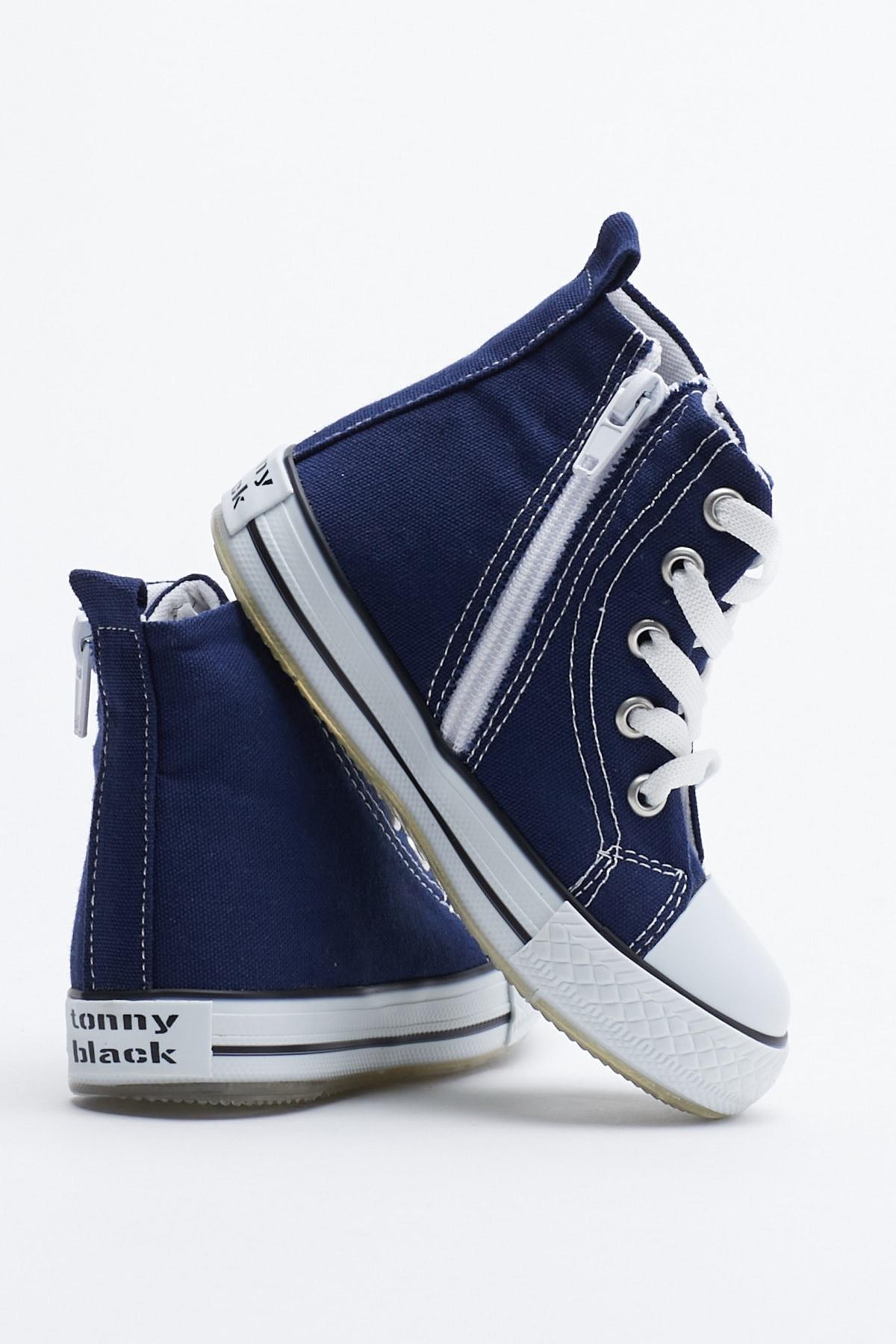 Tonny Black Lacivert Çocuk Spor Ayakkabı Uzun Tb999 3