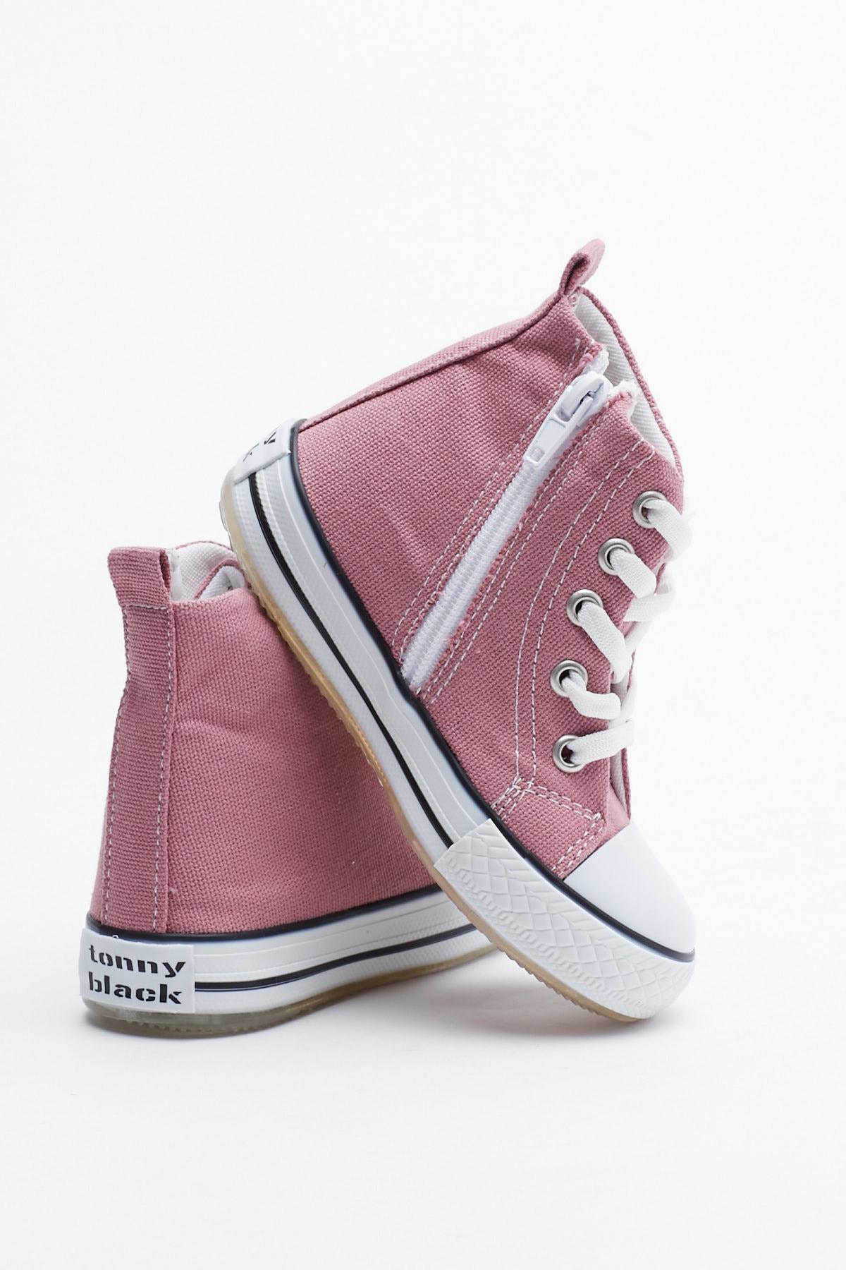 Tonny Black Mor Çocuk Spor Ayakkabı Uzun Tb999 3