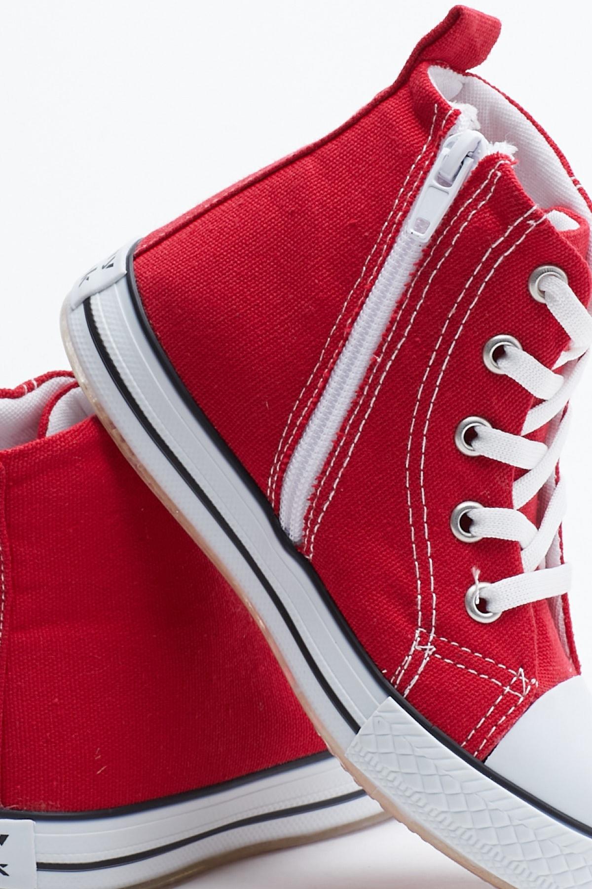 Tonny Black Kırmızı Çocuk Spor Ayakkabı Uzun Tb999 2