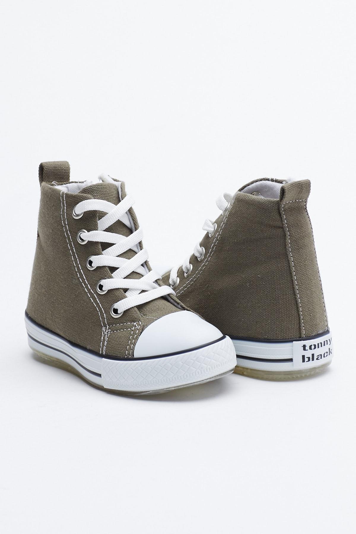 Tonny Black Haki Çocuk Spor Ayakkabı Uzun Tb999 1
