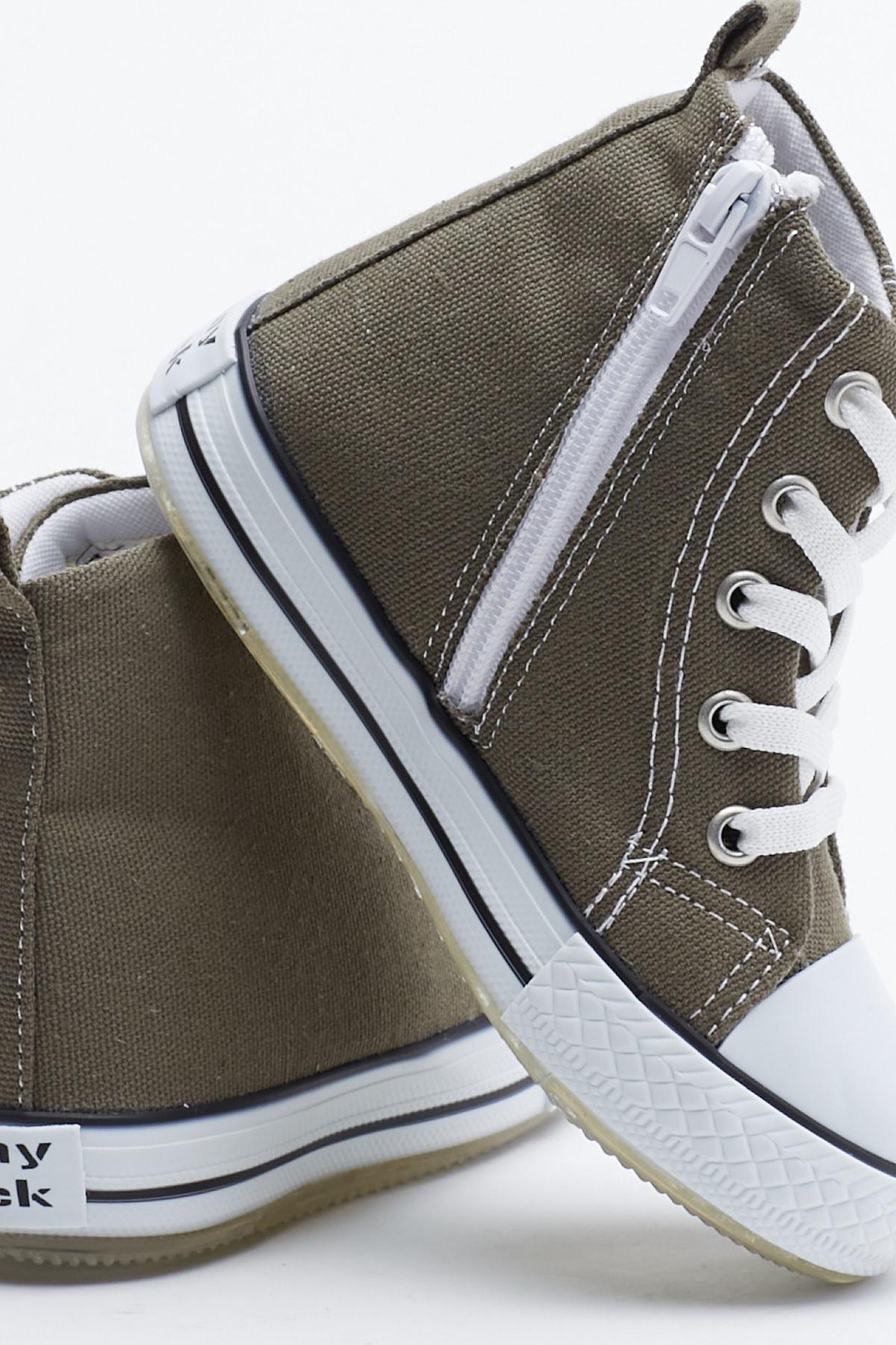 Tonny Black Haki Çocuk Spor Ayakkabı Uzun Tb999 2