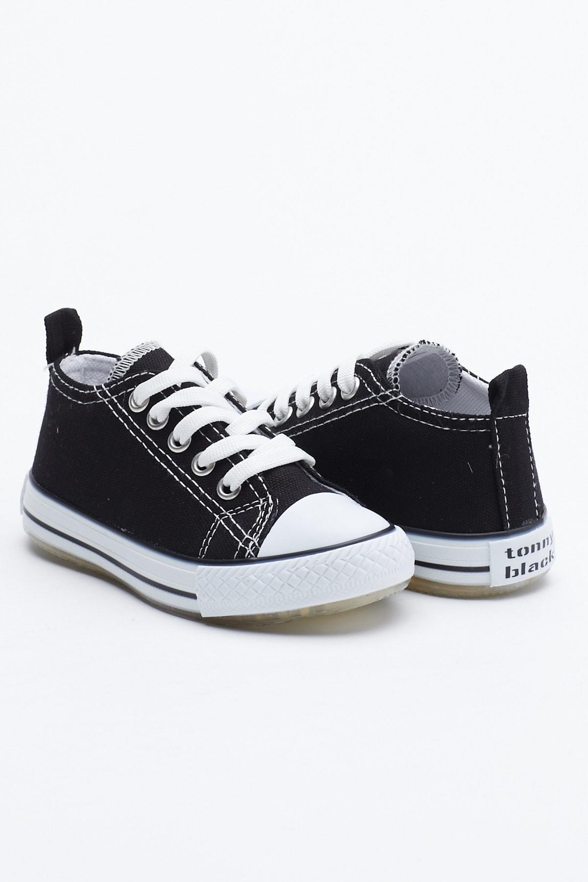 Tonny Black Siyah Çocuk Spor Ayakkabı Tb998 1