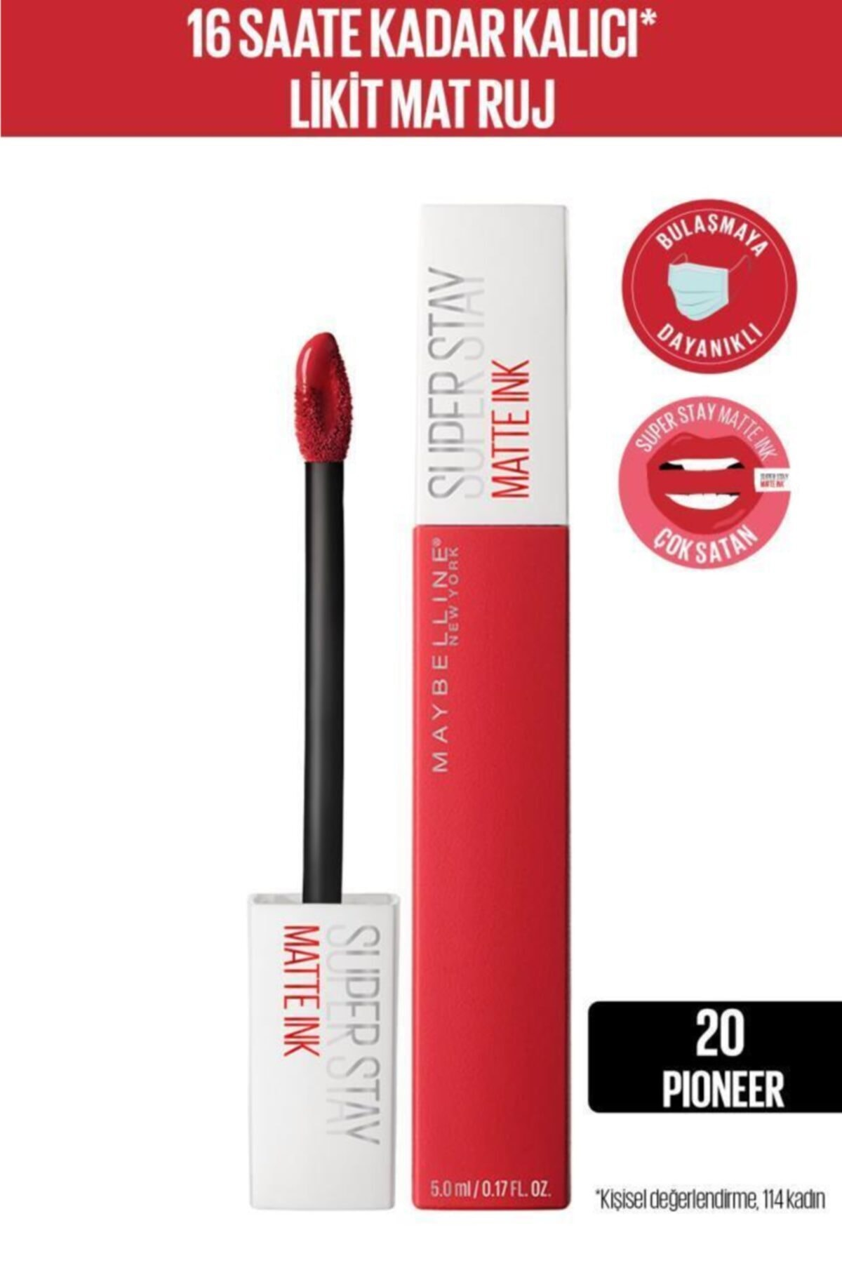 Super Stay Matte Ink Likit Mat Ruj - 20 Pioneer - Kırmızı