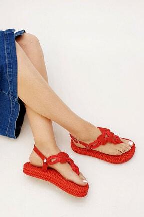 Marjin Casmina Kadın Parmak Arası Sandaletkırmızı 2