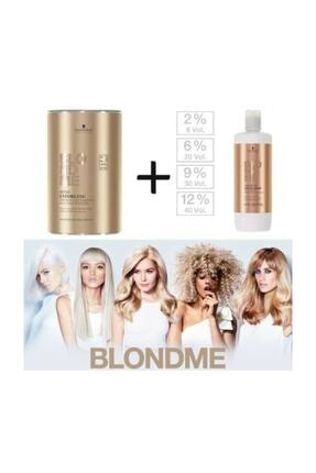 BLONDME Premium Lift+9 Açıcı 450 G + Oksidan %12 40 Volume 1000 ml 1