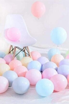 zeynep tuhafiye Makaron Pastel Karışık Renk Balon 20li 0