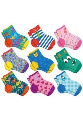 Circle Toys Kayıp Çoraplar Eşleştirme Beceri Zeka Geliştirme Oyunu 1