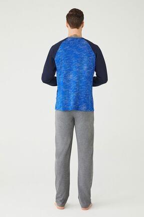 US Polo Assn Erkek Sax Yuvarlak Yaka Pijama Takım 2