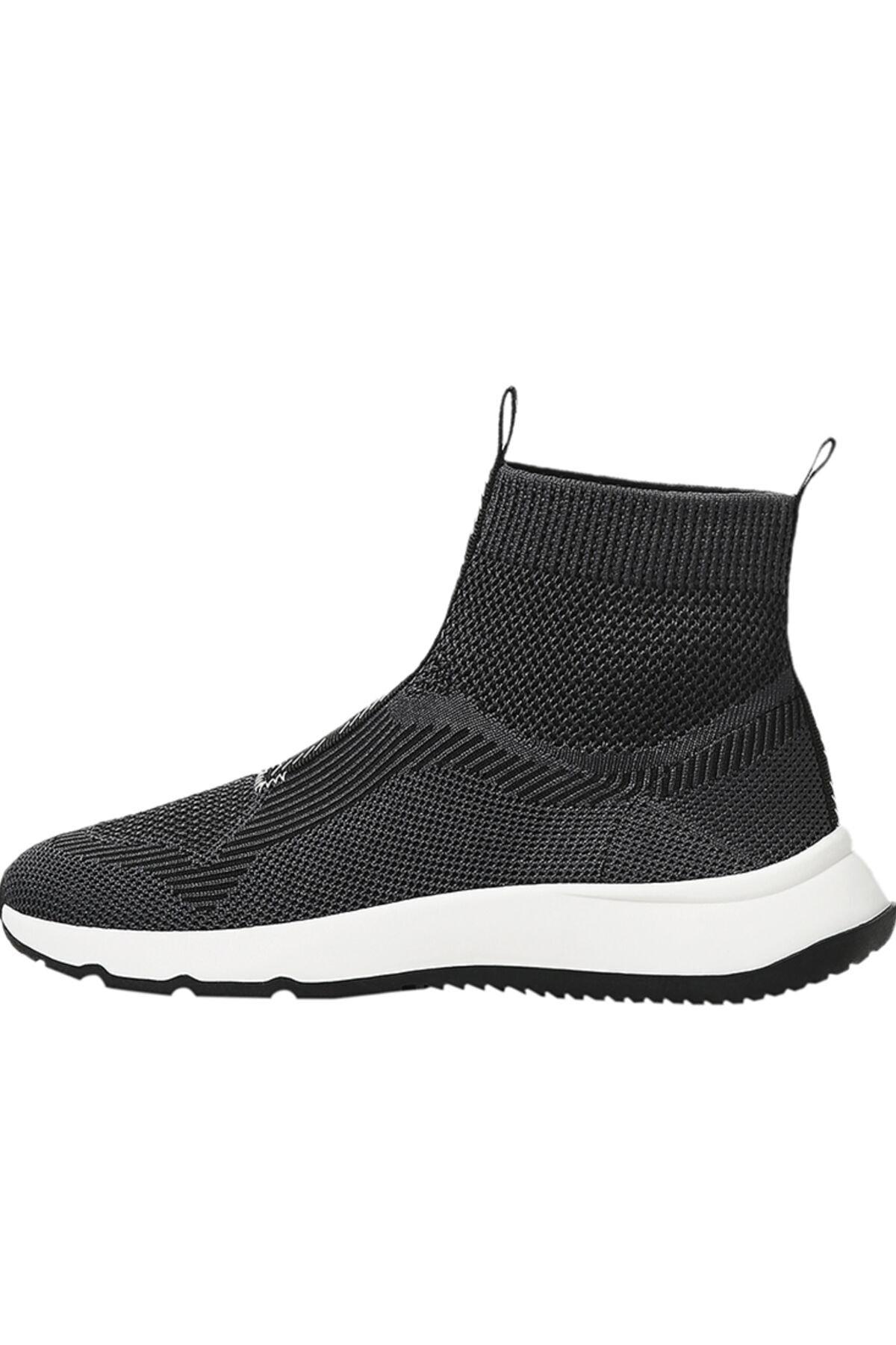 Bershka Kadın Siyah Çorap Model Örgü Yüksek Bilekli Spor Ayakkabı 11510760 1