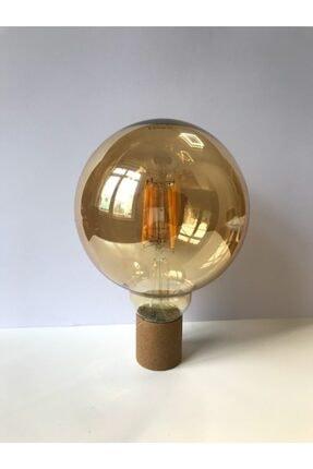 Heka Edison Dekoratif Yuvarlak G95 Glop Model 6w Rustik Led Ampul E27 Normal Duylu Amber Rengi 4