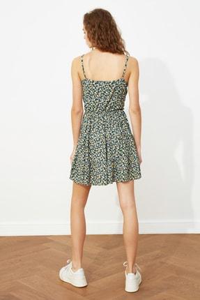 TRENDYOLMİLLA Çok Renkli Desenli Kruvaze Örme Elbise TWOSS21EL1554 4