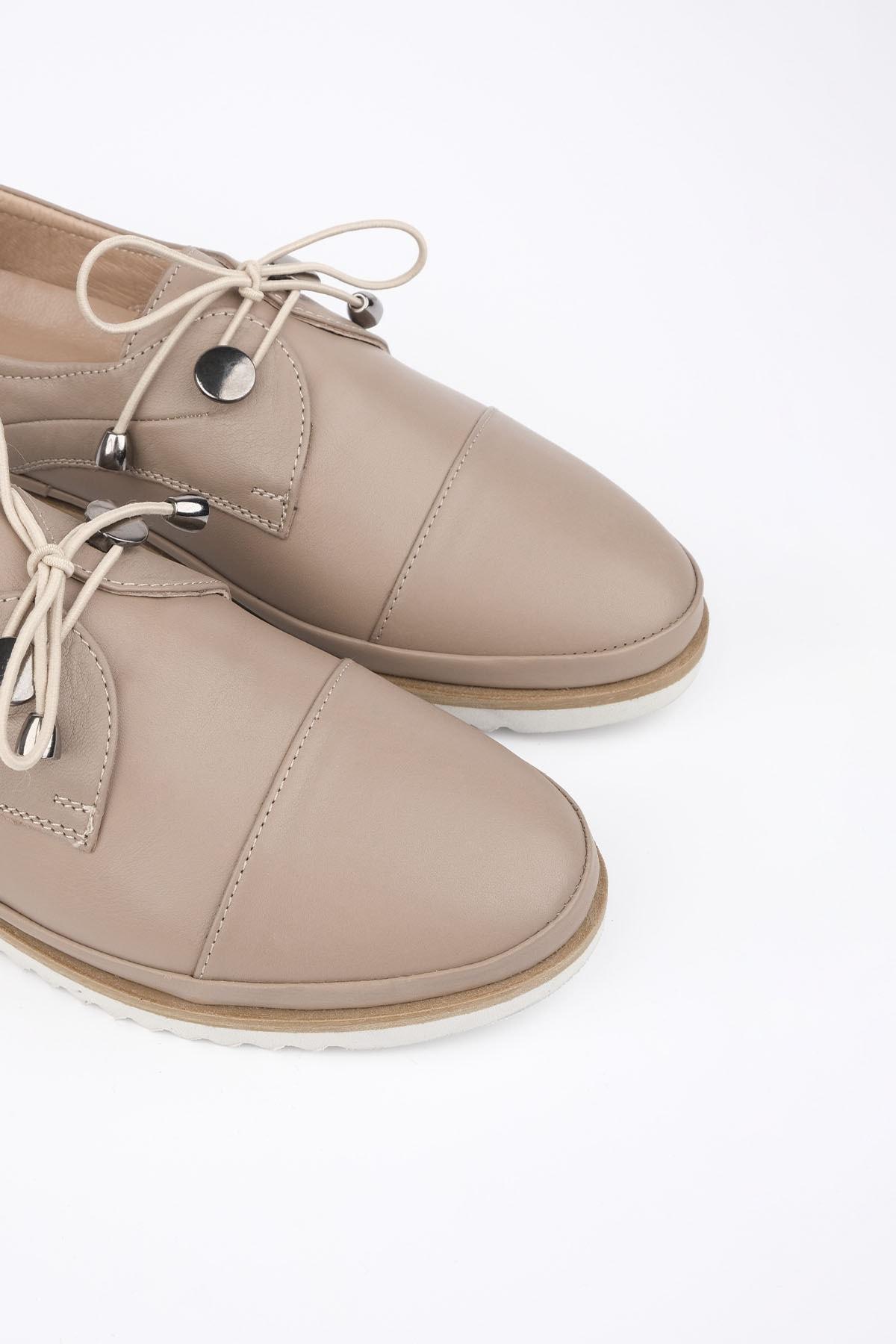 Marjin Demas Kadın Hakiki Deri Comfort AyakkabıVizon 3