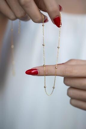 İzla Design Kadın Toplu Zincir Model Altın Kaplama Kolye Izlaslvr00584 2