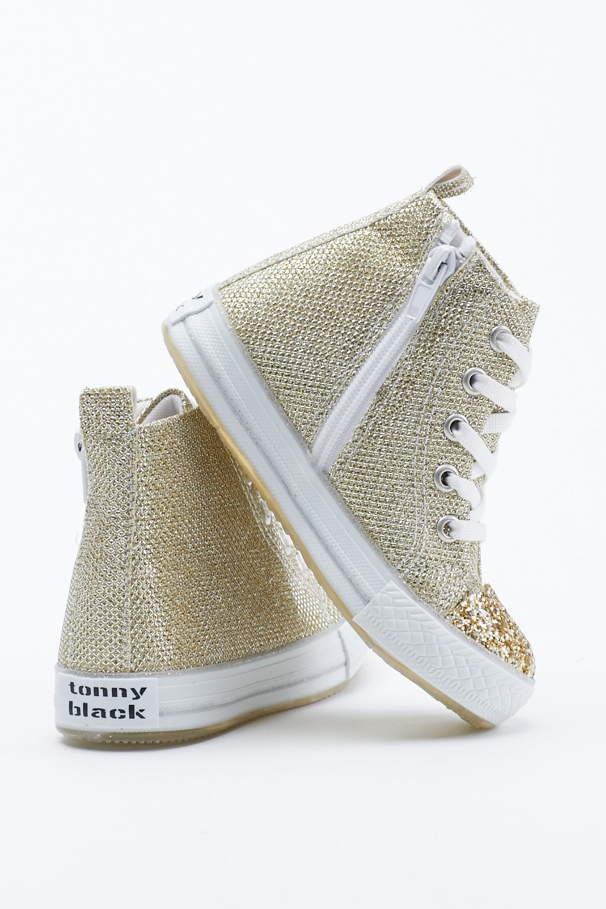 Tonny Black Altın Çocuk Spor Ayakkabı Uzun Tb999 1