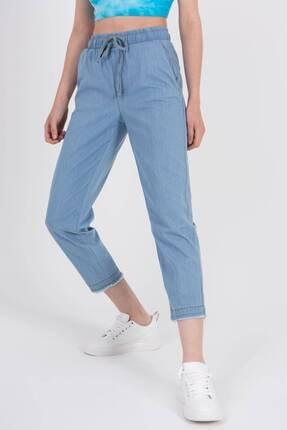 Addax Kadın Açık Kot Rengi Önden Bağlamalı Pantolon Pn4317 - Pnl ADX-0000022956 1