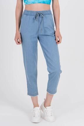 Addax Kadın Açık Kot Rengi Önden Bağlamalı Pantolon Pn4317 - Pnl ADX-0000022956 2