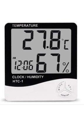 Elektronikport Htc-1 Dijital Termometre Sıcaklık Ve Nem Ölçer Masa Saati Alarm 0