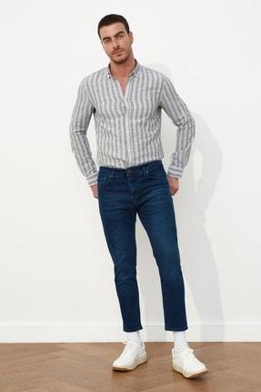 TRENDYOL MAN Lacivert Erkek Skinny Crop  Jeans TMNSS21JE0060 0