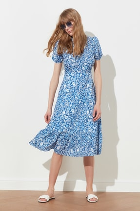 TRENDYOLMİLLA Çok Renkli Desenli Elbise TWOSS20EL0894 1