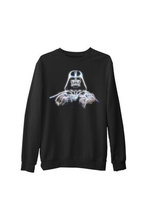 Lord T-Shirt Erkek Siyah Star Wars Starlight Kalın Sweatshirt 0