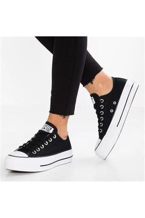 Converse Kadın Siyah Chuck Taylor All Star Lift Sneaker 560250c 0